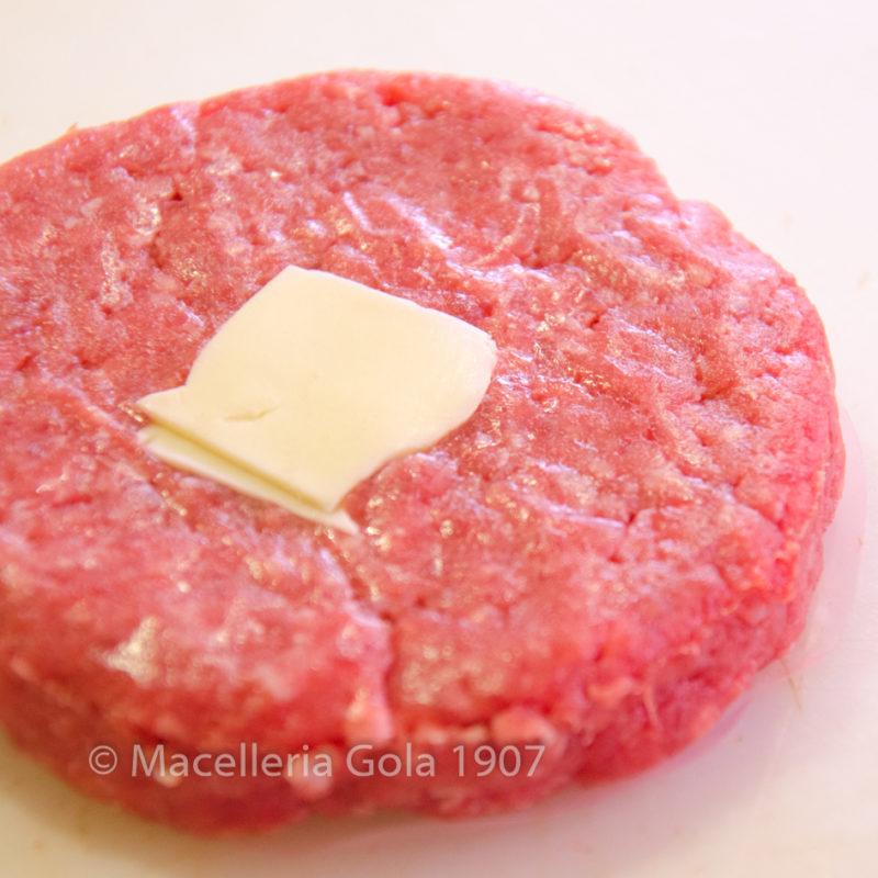 Hamburger con prosciutto e formaggio